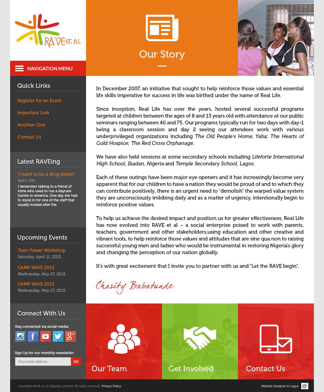 rave-et-al-website-design-our-story-page