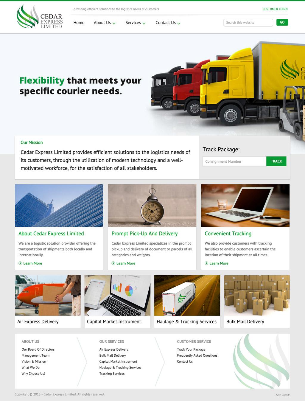 cedar-express-website-design