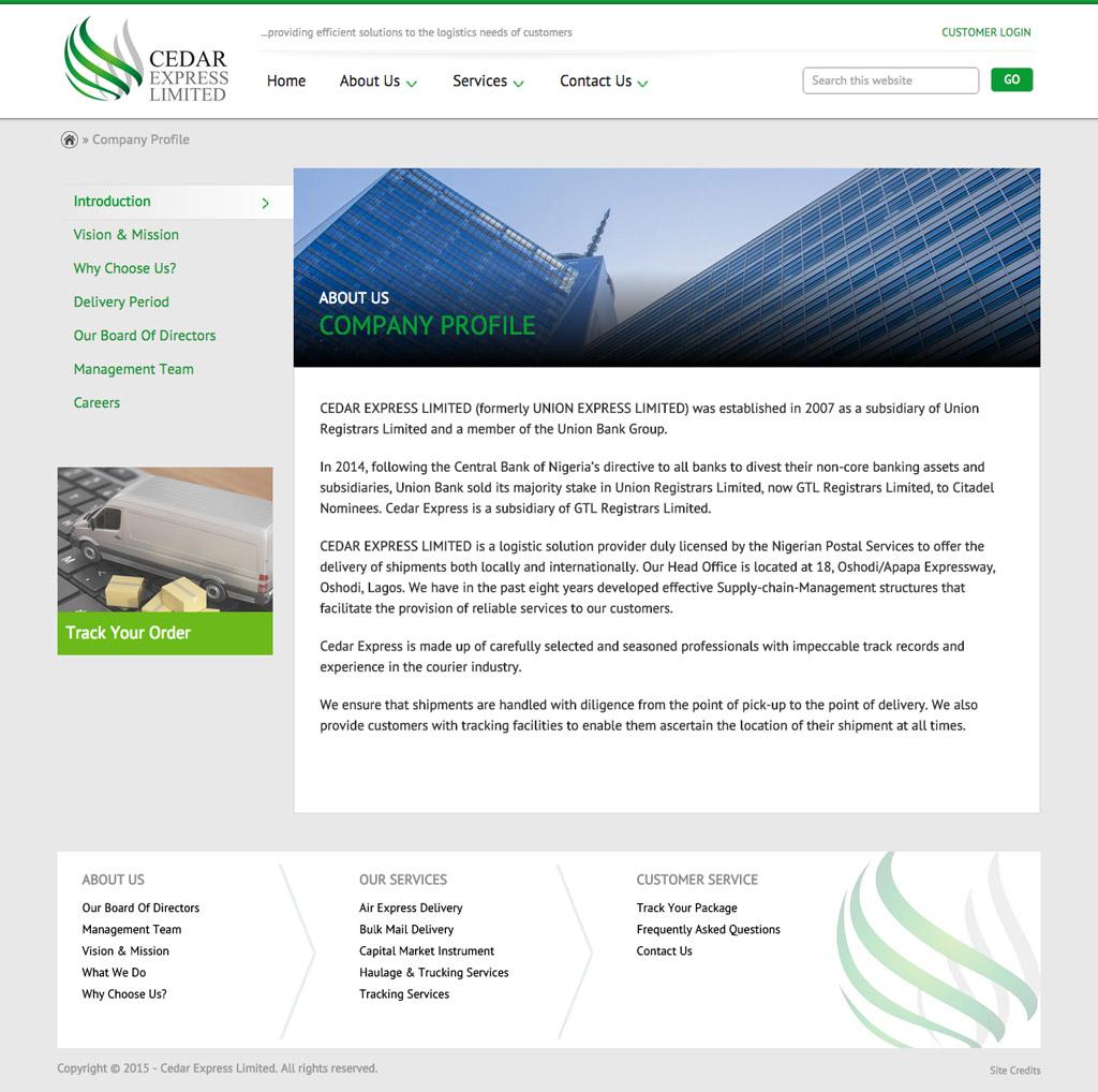 cedar-express-website-about-page-design