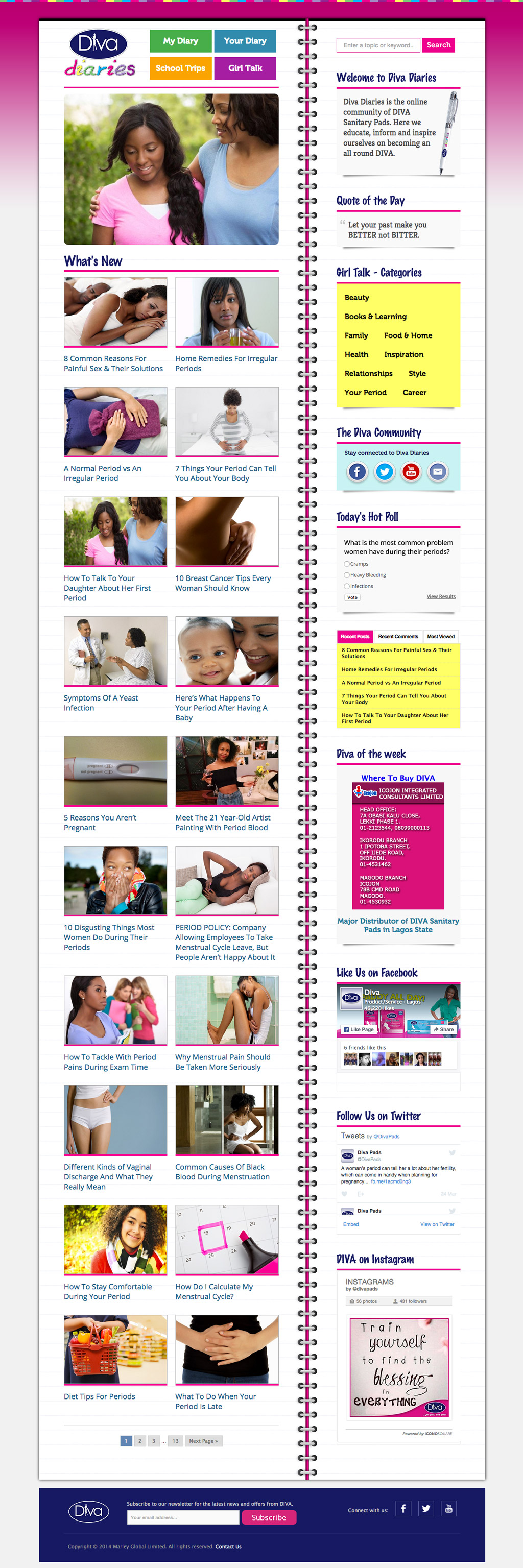 diva-diaries-blog-design-and-development