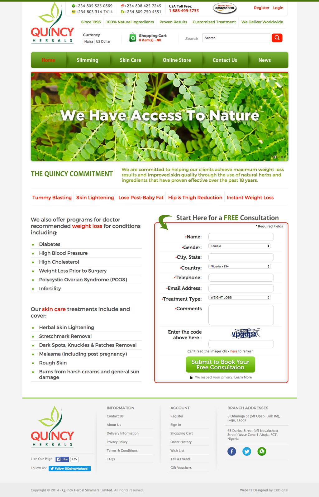 quincy-herbals-website-developer