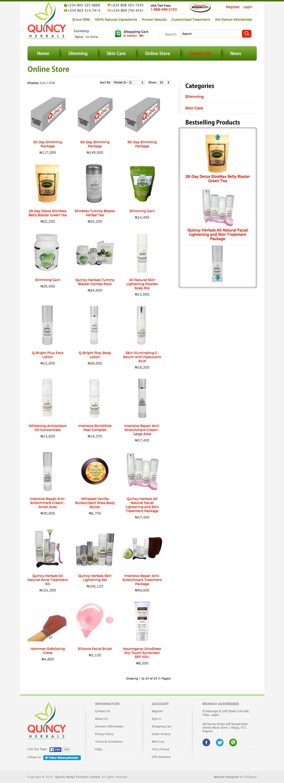 quincy-herbals-category-page-website-development