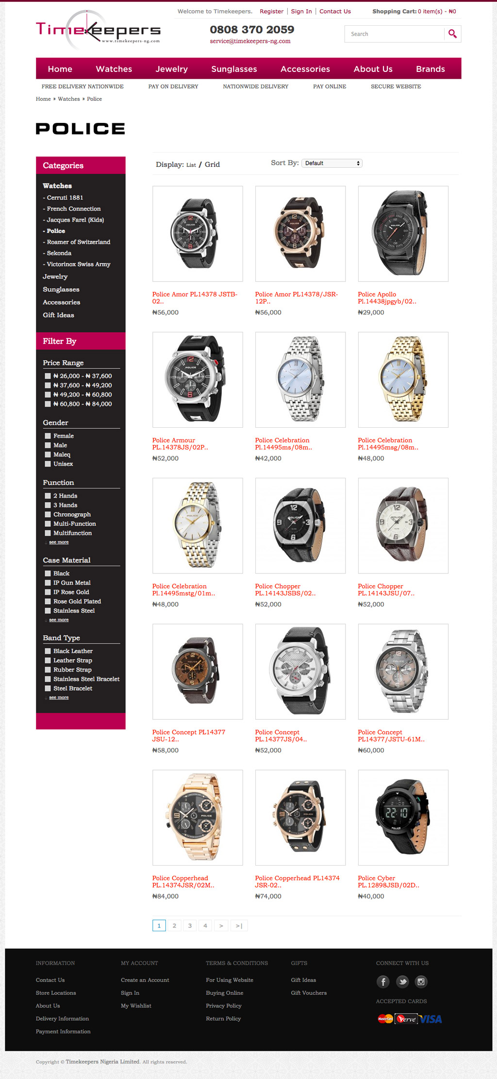 timekeepers-ecommerce-website-category-page-development