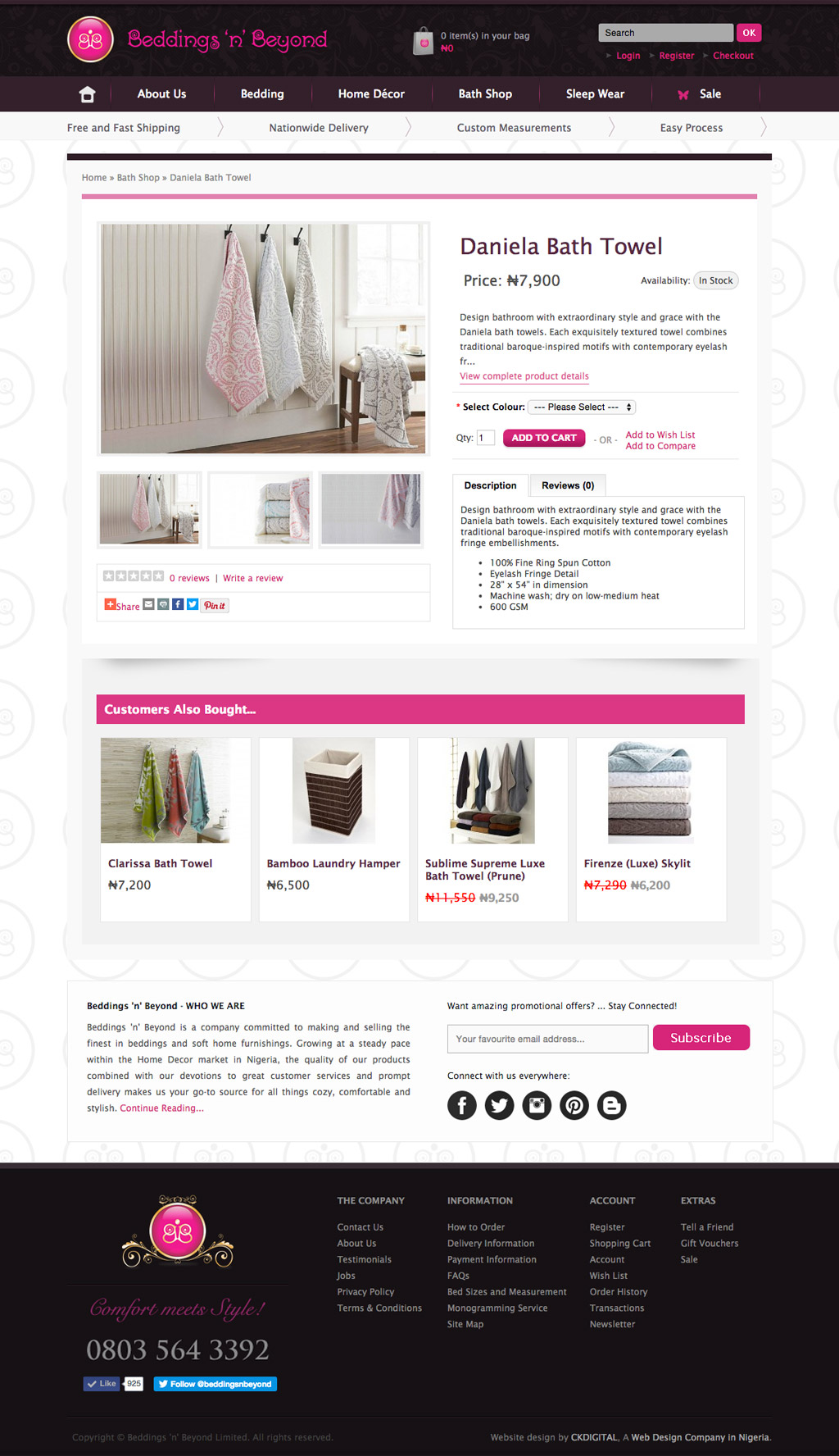 beddings-n-beyond-eCommerce-product-page-development