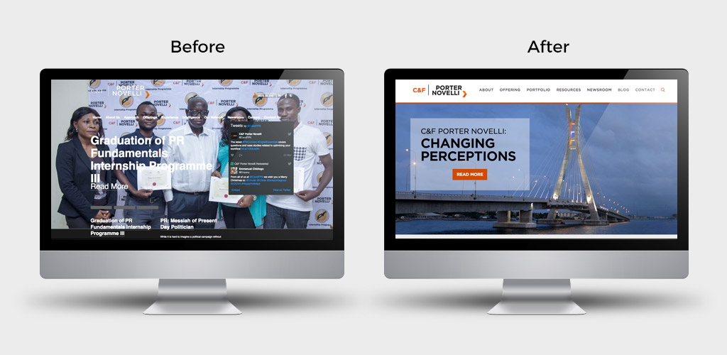 c-and-f-porter-novelli-nigeria-website-design