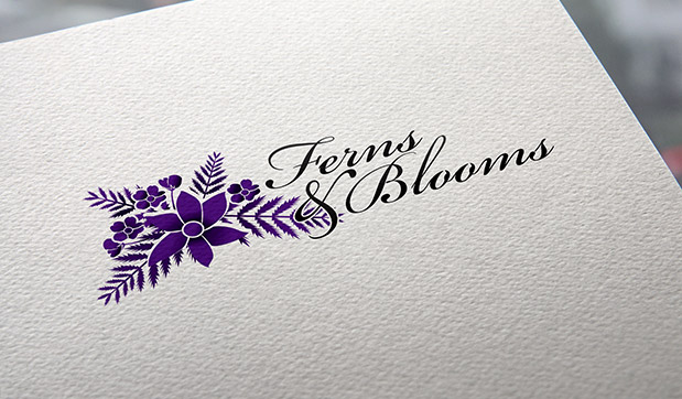 ferns-and-blooms-logo-identity-design