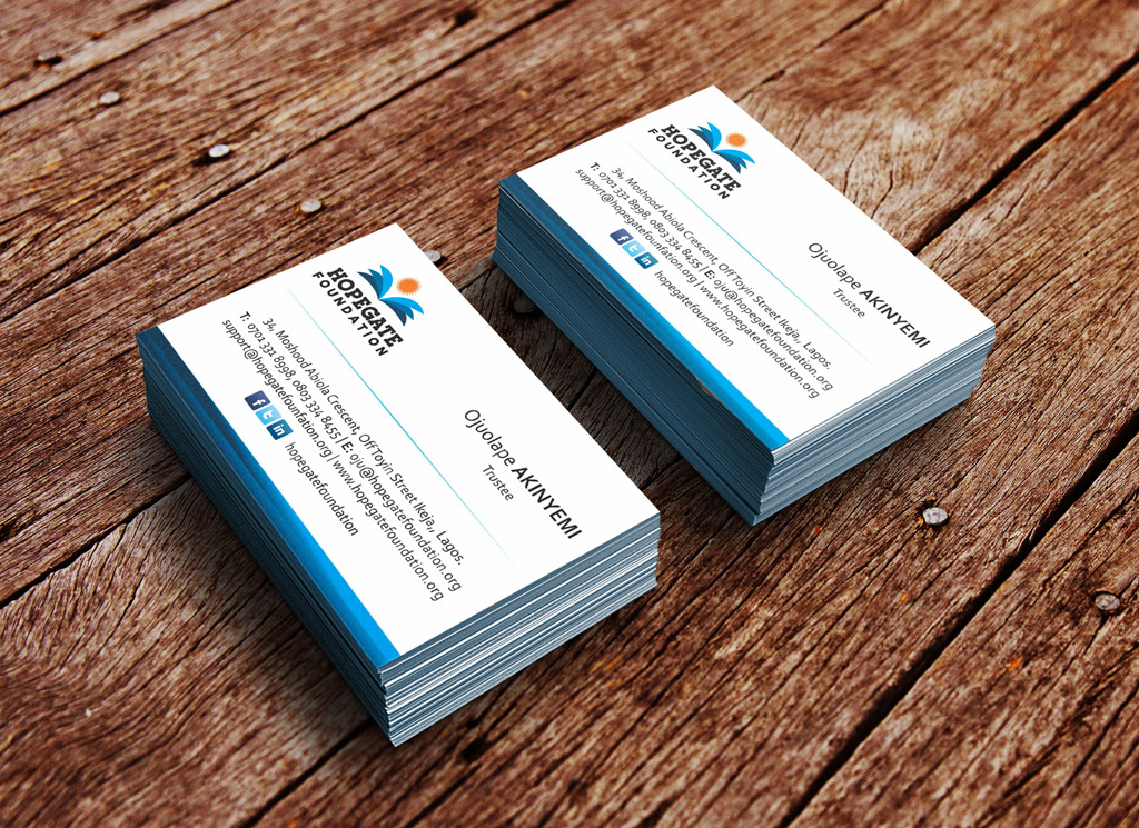 hopegate-foundation-business-card-design