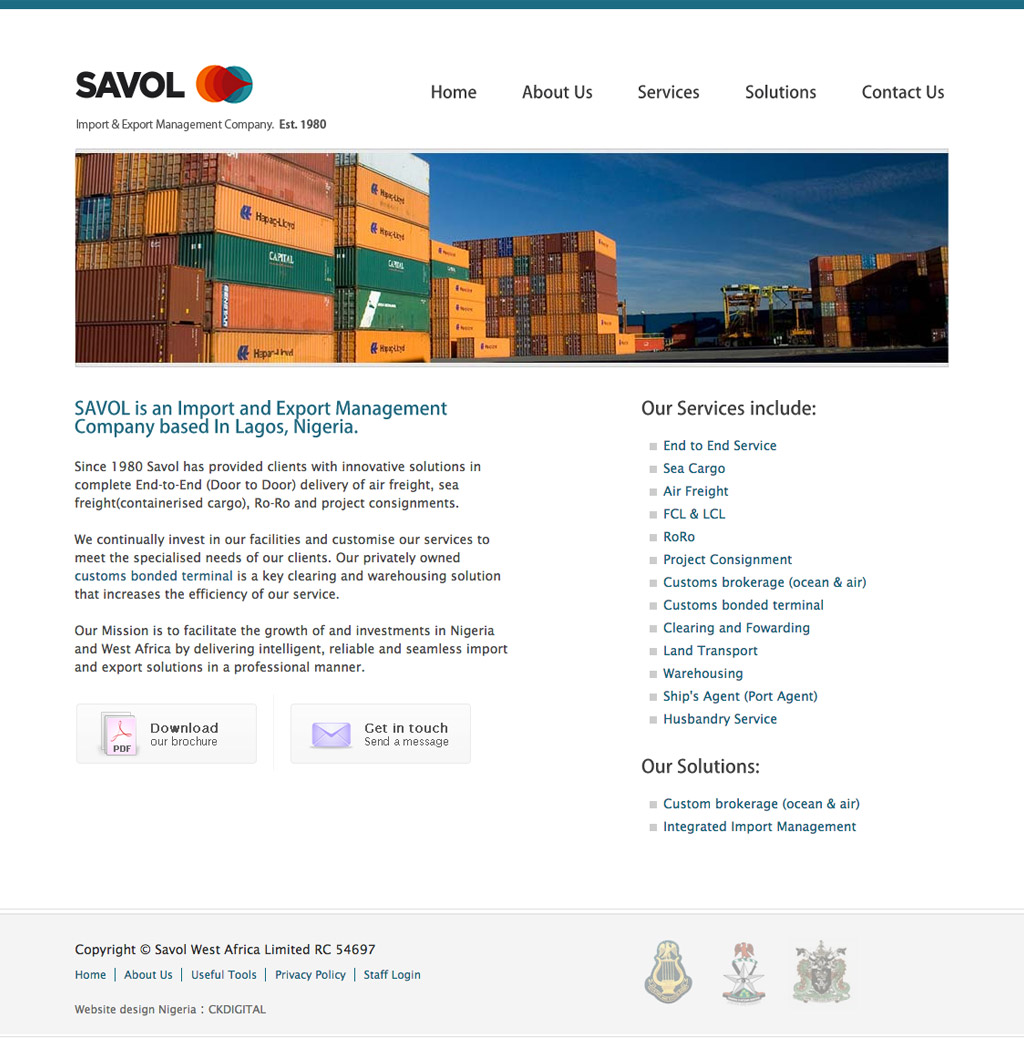 savol-west-africa-website-design-homepage