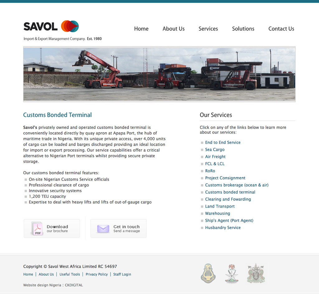savol-west-africa-website-homepage-design