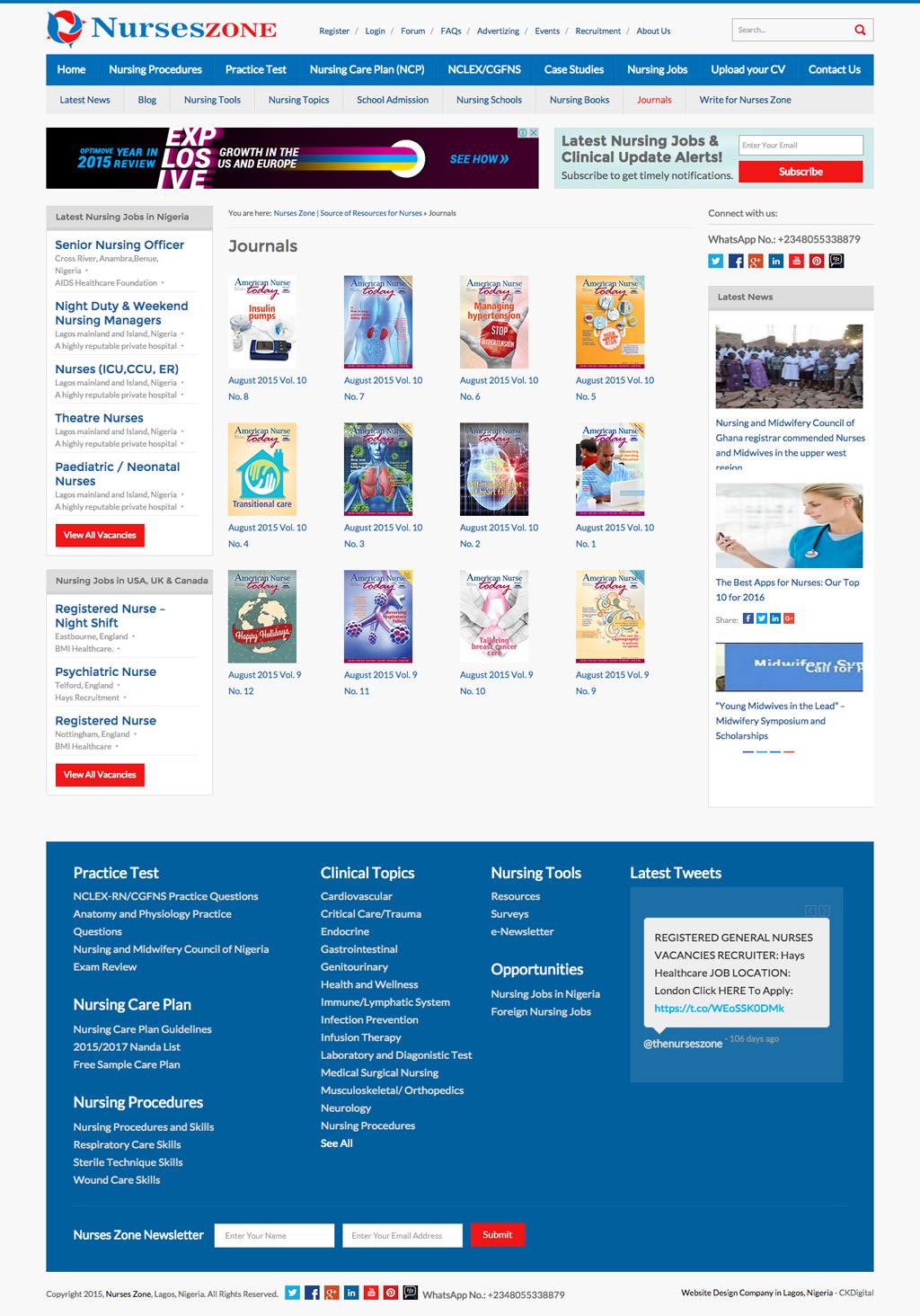 the-nurses-zone-website-design
