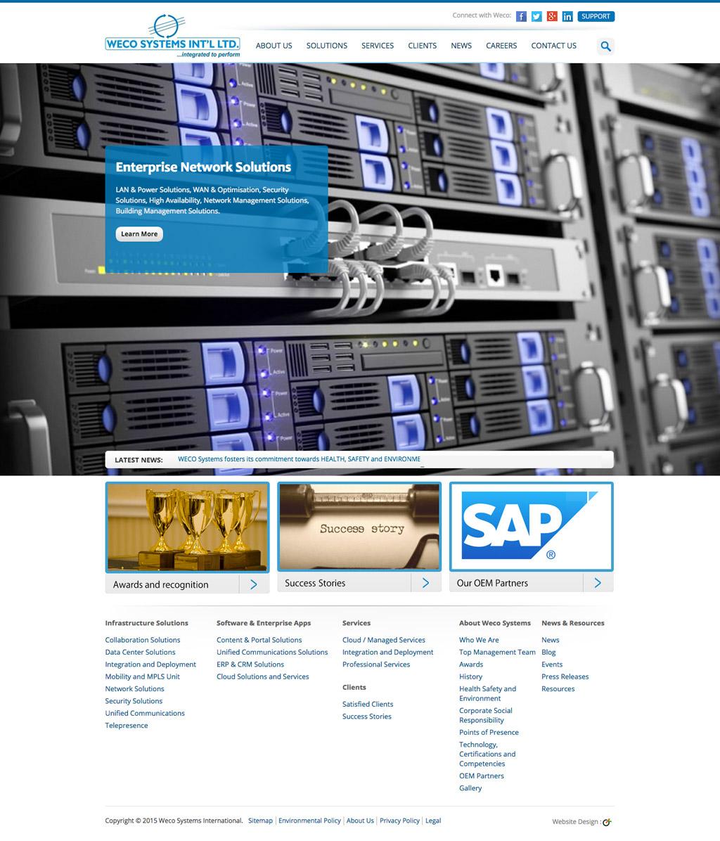 weco-systems-website-homepage-development