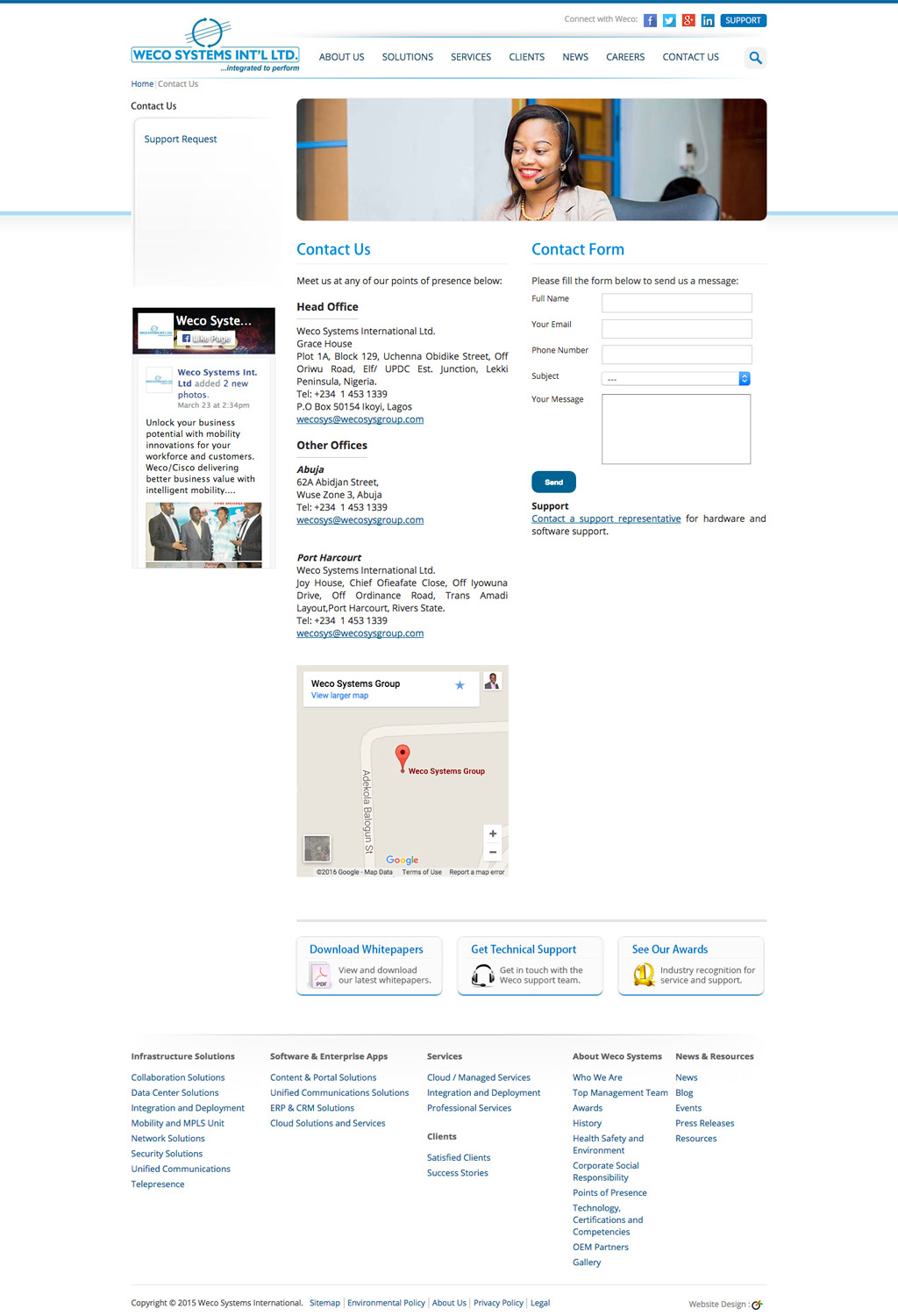 weco-systems-website-contact-page-development
