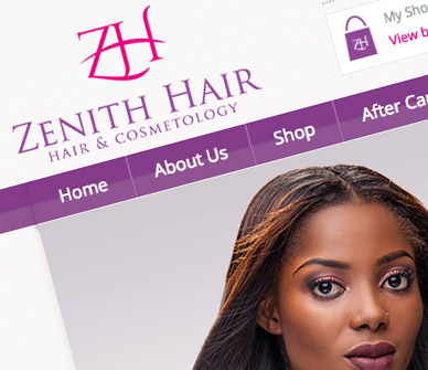 zenith-hair-lagos-online-store-development