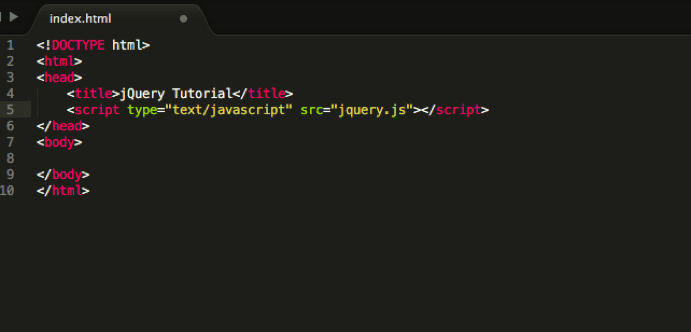 jQuery Tutorial - what your code should look like now.