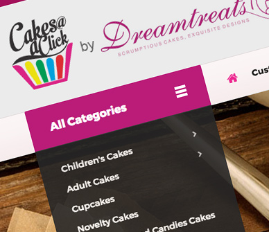 Dreamtreats Cakes Website Design Company