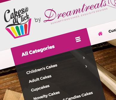 Dreamtreats Cakes Website Design Company