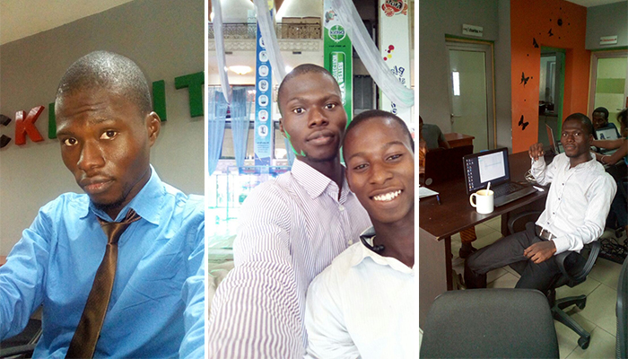 Peter Adeosun - During his internship at CKDigital