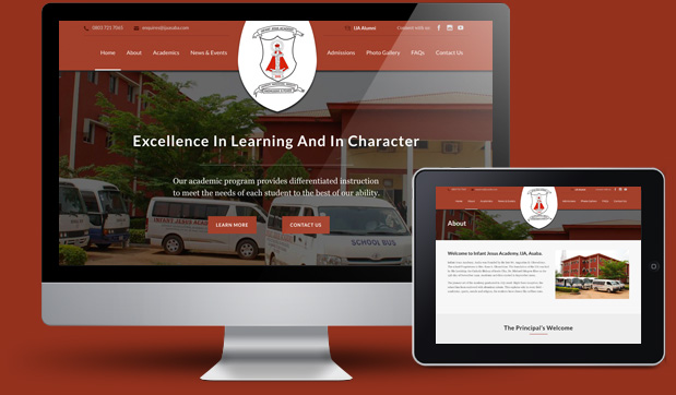 Infant Jesus Academy - Website for Secondary School