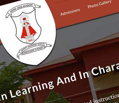 Infant Jesus Academy - School Website Design