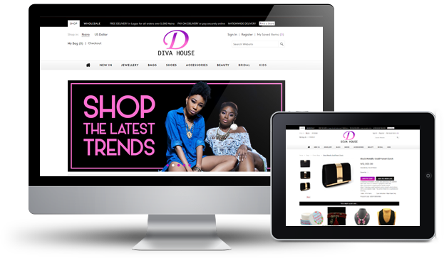 Website design for a fashion store