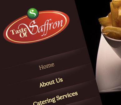 Website Design for Taste of Saffron