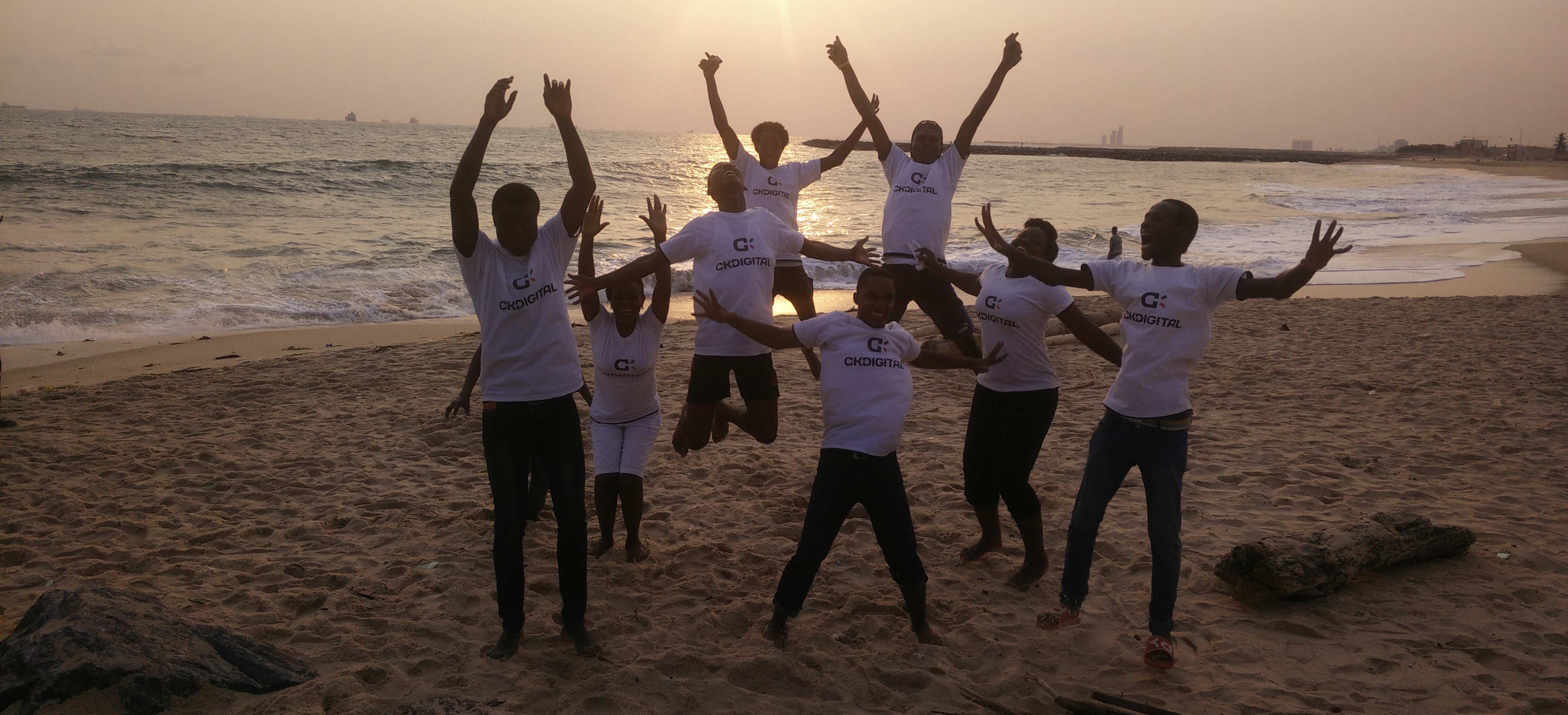 CKDigital team at Elegushi beach