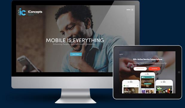 iConcepts Website Design by CKDigital