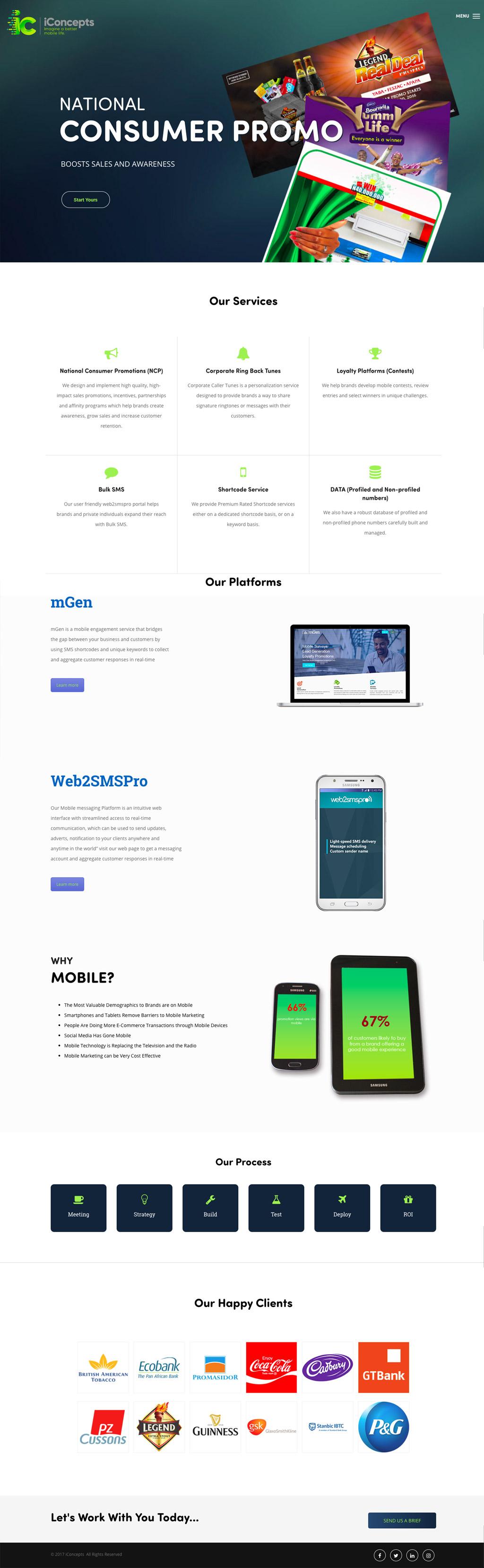 iConcepts website design 2