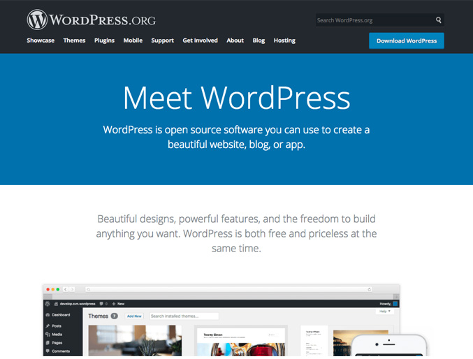 Best Website CMS – WordPress
